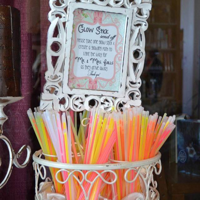 Glow stick wedding send off!
