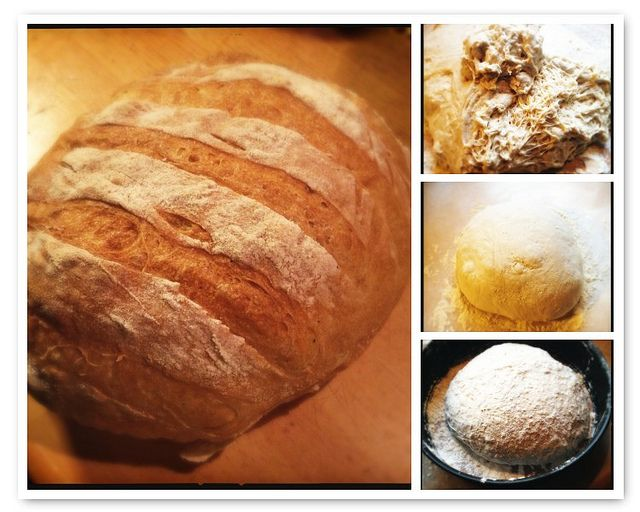 Knapperig brood zonder te kneden, recept
