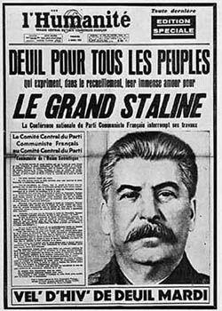 Pagina di un giornale francese
