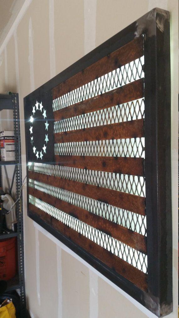 Welded Metal 13 Star American Flag by JSGMJ on Etsy