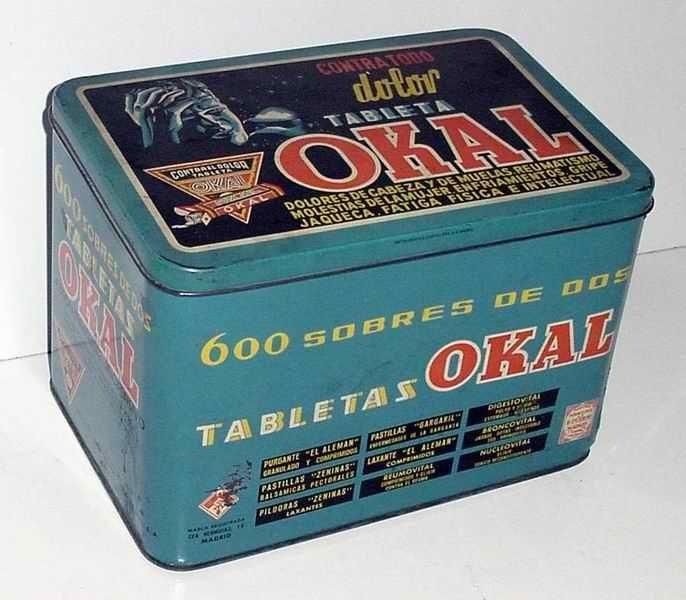 En 1926 Rafael Puerto Galiano inicia sus primeras actividades industriales, con formulaciones magistrales preparadas en farmacia. En 1932 nace la tableta Okal, uno de los analgésicos mas consumidos en España durante tres décadas y base del desarrollo de Puerto Galiano.