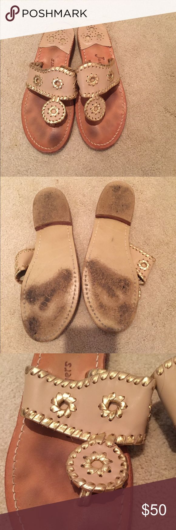 Gold Jack Rogers Worn, but not very often. Still in good condition. Jack Rogers Shoes Sandals