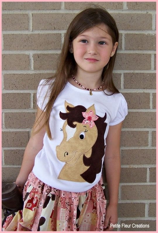 Horse Applique: Cowgirl Horses Shirts Outfits, Cowgirl Boys, Applied