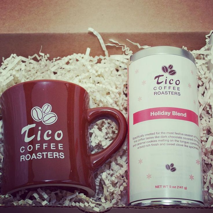 #HolidayBlend #Coffee with a #ticoroasters #mug #sweet #gift for your #family and #friends!! #Holiday #Thanksgiving #coldweather #yummycoffee #local #sustainable #handroasted #Campbellcoffee #uniqueexperience #giftset