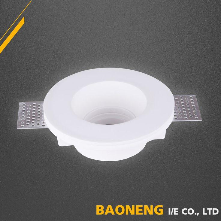 130*45mm round mr16 gypsum recessed ceiling lamp