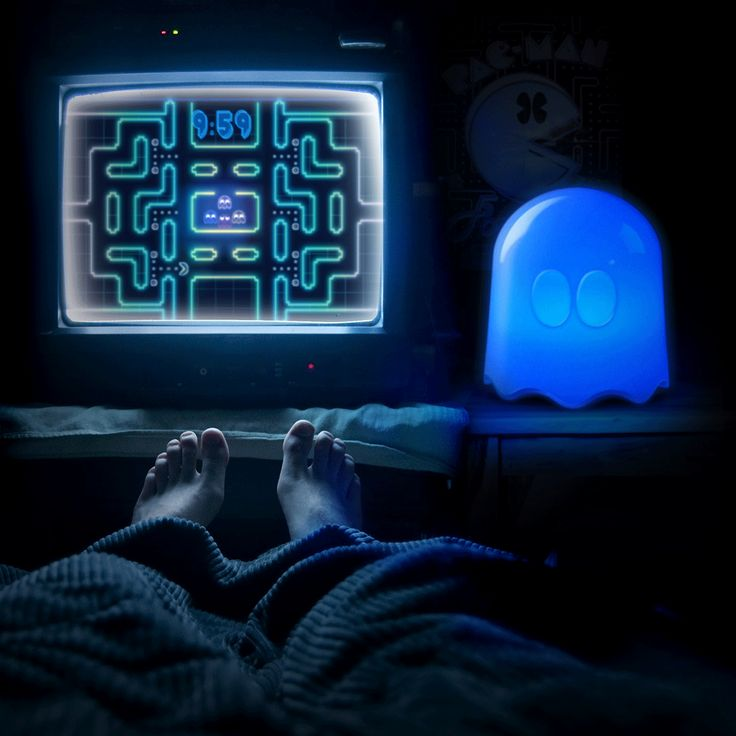 ThinkGeek :: Pac-Man Multi-Color Ghost Lamp