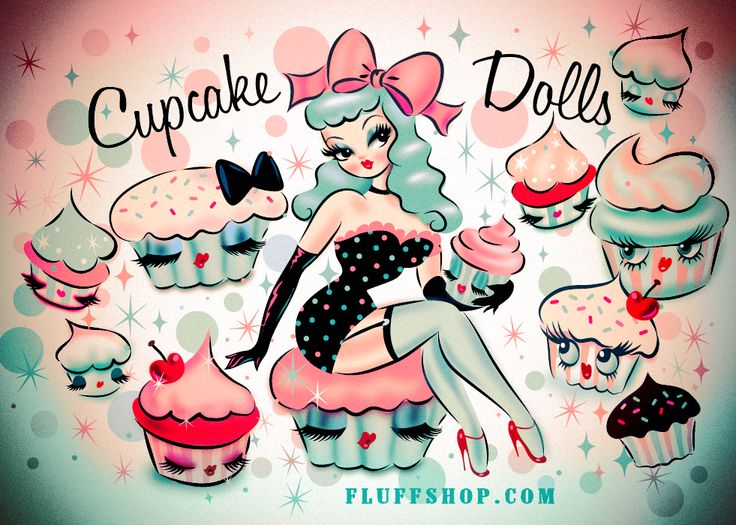 Cupcake Dolls by Miss Fluff (Claudette Barjoud) Coming Soon! http://www.fluffshop.com