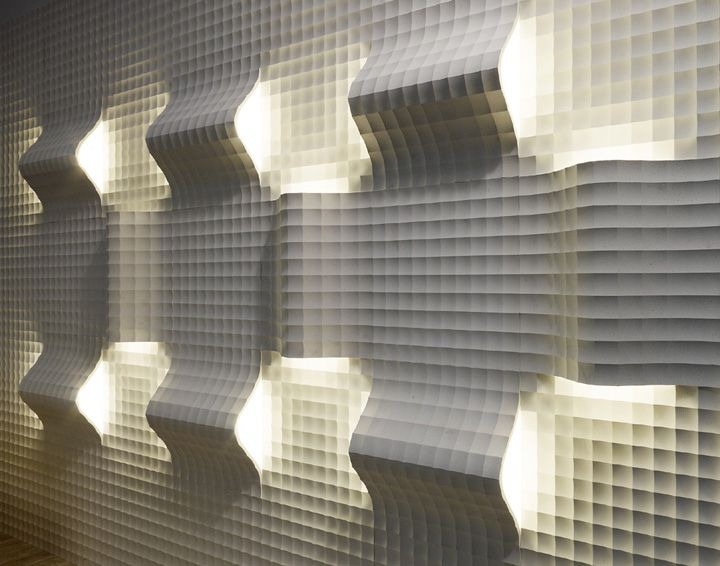 quadro curve luce panels by raffaello galiotto for lithos design materials lighting - Walls By Design