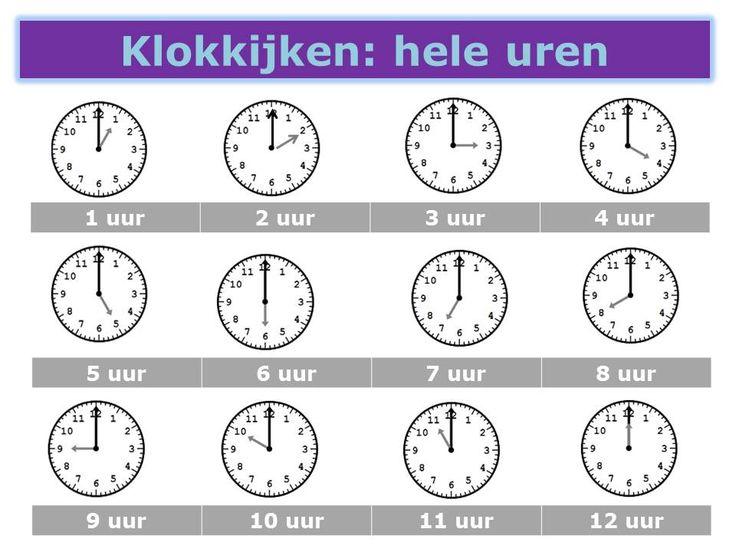 Klokkijken: hele uren