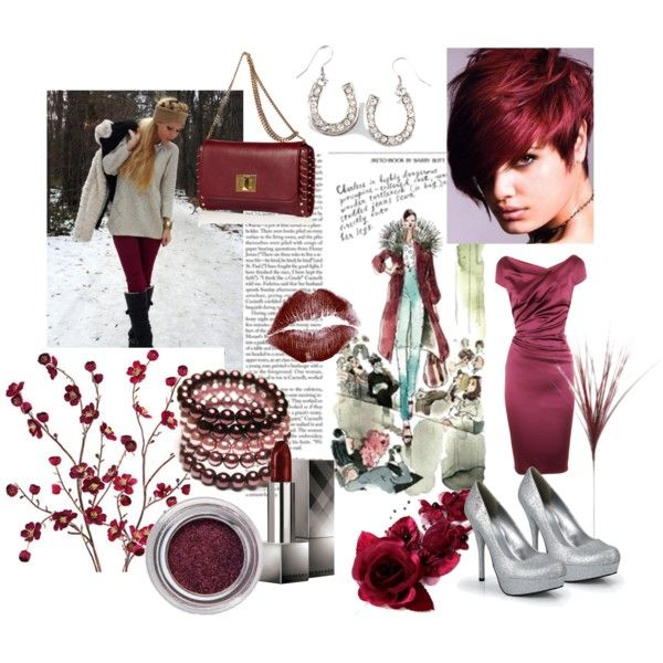 """Burgundy Style"" by oxalis4de on Polyvore"