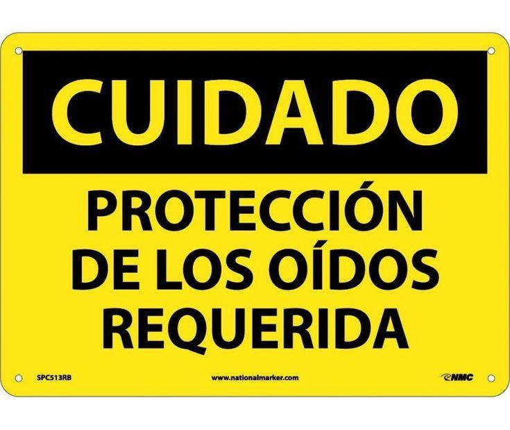 CUIDADO, PROTECCION DE LOS OIDOS REQUERIDA, 10X14, .040 Aluminum