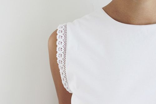 DIY Lace Trim Top