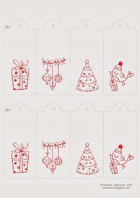 Cerkaland: Letölthető karácsonyi ajándékkártyák \\ Free printable gift cards