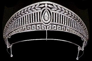 The Prussian Tiara of Queen Sofia of Spain given to her by her mother, Queen Frederica of the Hellenes.