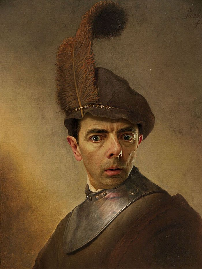 Rowan Atkinson (Mr. Bean) Inserted Into Historical Portraits By Caricature Artist