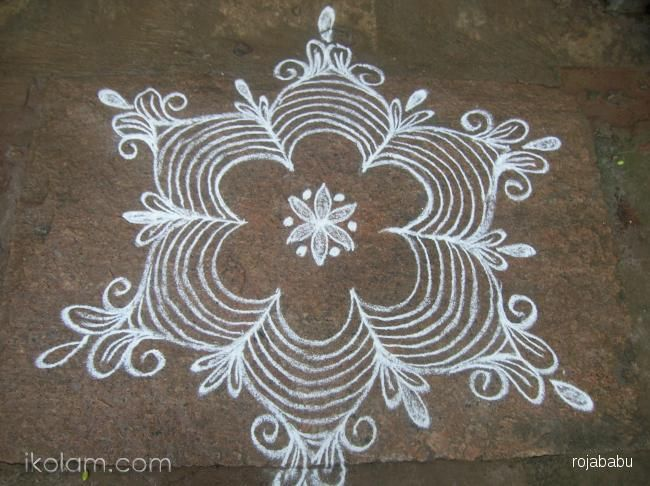 Rangoli of the day: Roja babu