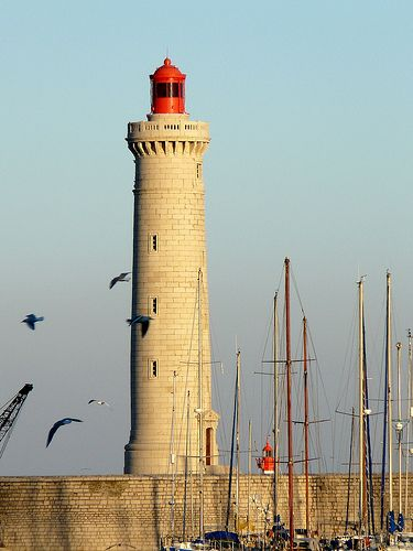 Phare de Sète au môle saint-Louis, France