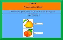 Pastelka pre deti - Horúce zemiačiky . Triedenie ovocia