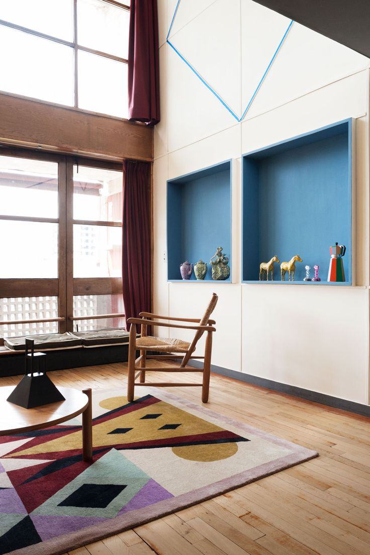 Alessandro Mendini at Le Corbusier's Apartment N° 50, Marseille.