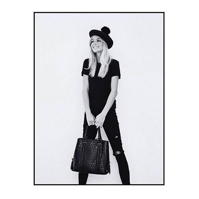 On Monday's we wear black | @nadiafairfax styles our Siren Skinny Revel | Super soft, seriously black denim #NobodyDenim