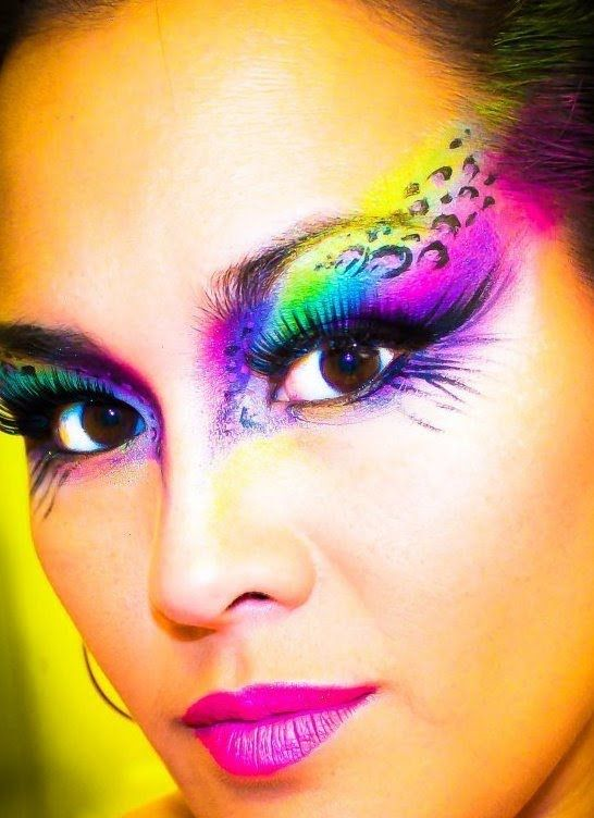 Leopard Print Eyes Face Paint Makeup Tutorial (NYX Face Awards 2012 Submission), via YouTube.