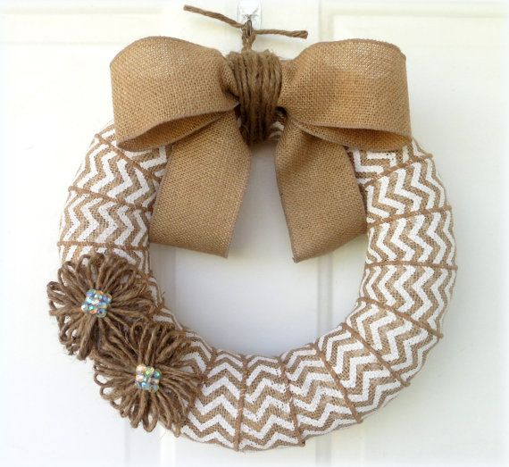 easy burlap wreath and inexpensive too cute!!