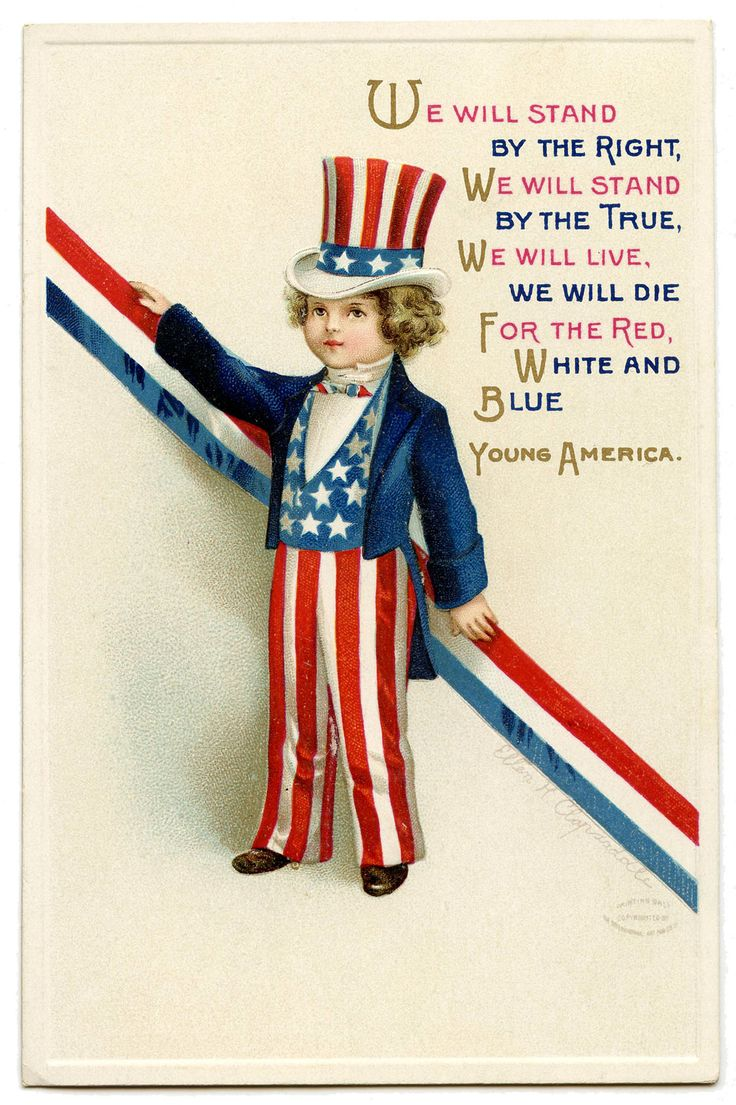 Young America ~ vintage patriotic postcard of Uncle Sam with art by Ellen H. Clapsaddle | via The Graphics Fairy