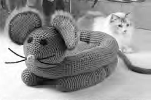 Old Fashioned Crochet Cat House Pattern Crest Easy Scarf Knitting