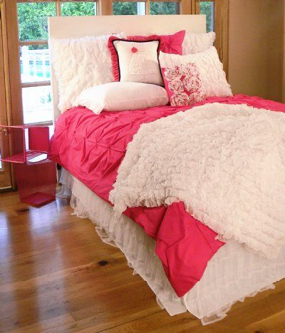 Girls Bedding | Crisp Hot Pink Girls Bedding Collection - Sweet and Sour Kids