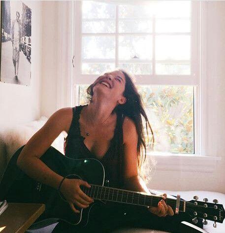 @kamplainnn ❃ music photography girl guitar smile