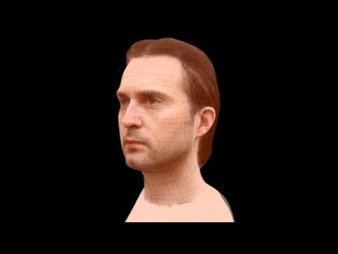 Example of retopologized mesh created using 123D Catch - Head Test