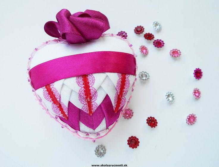 polystyrén srdce nešitý patchwork styro heart Mother´s Day