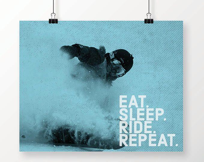 Art Print, Printable Art, Dorm Decor, Teen Room Decor, Poster, Sports Decor, Snowboarding, Snowboard Poster, Snowboard