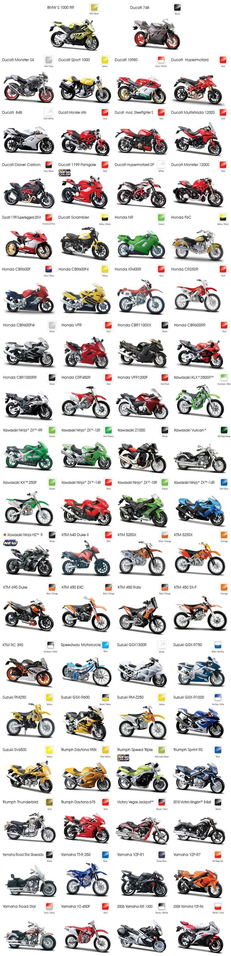 A Maisto divulgou seu novo catálogo, os mais de 200 modelos de motos são espetaculares! Venha conferir com a gente o catálogo das motos Maisto 2016.