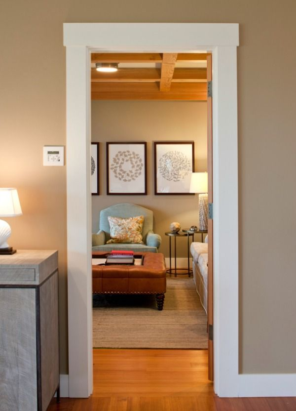 Farmhouse meets modern our favorite wall colors - Contemporary trim moulding ...