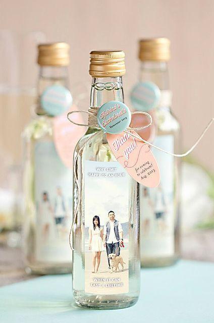 personalized wine bottle favors