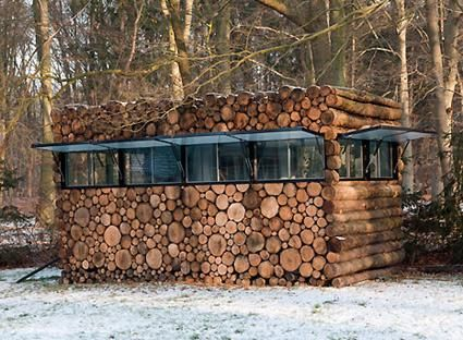 Log Garden House in Hilversum, The Netherlands. Piet Hein Eek, Architect.