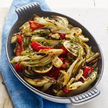 Roasted Fennel and Sweet Peppers with Garlic and Lemon