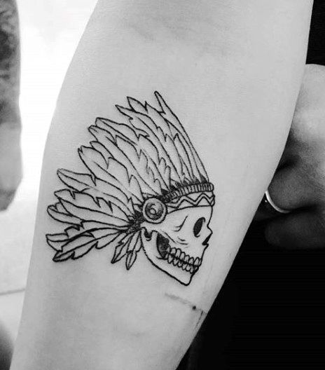 Skull Warrior Simple Small Tattoos For Men                                                                                                                                                                                 More