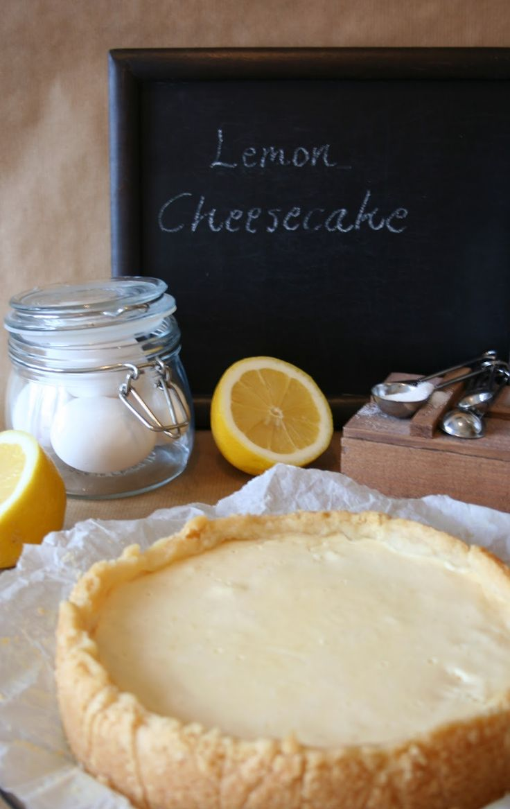 lemon cheesecake by Painted By Cakes