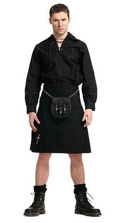 DOON Fashion inspiration: Economy Black Kilt Outfit
