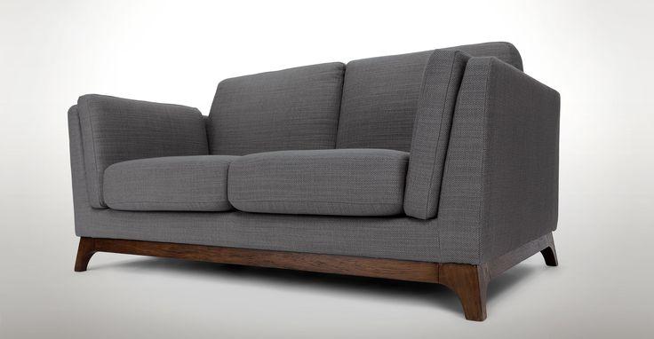 Ceni Pyrite Grey Loveseat - Loveseats - Article | Modern, Mid-Century and Scandinavian Furniture