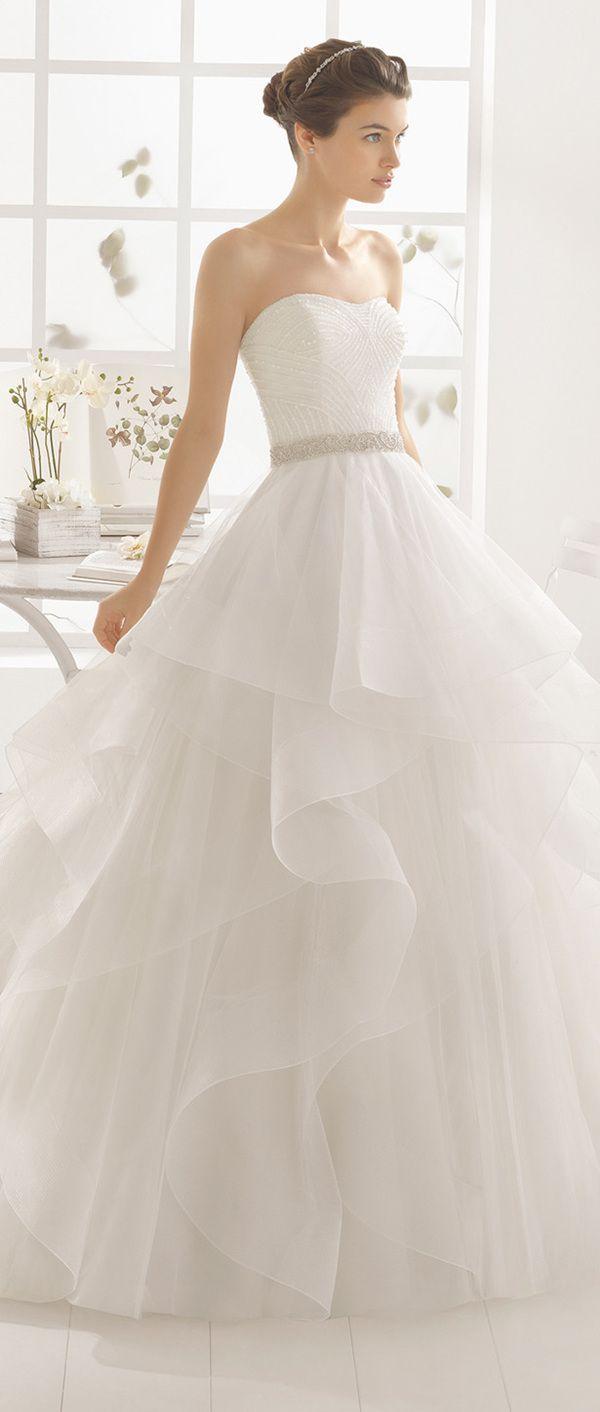 Aire Barcelona strapless sequins ball gown 2016 wedding dress
