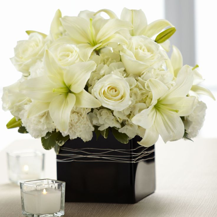 Lily Vase Wedding Flowers : Best images about white lilies arrangements on
