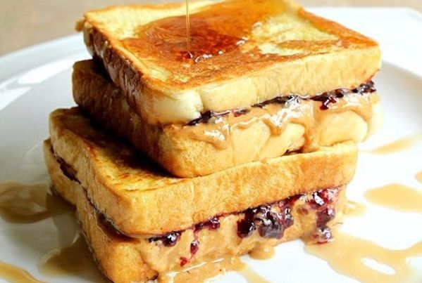 Peanut Butter & Jam French Toast #BDFood: Why have plain peanut butter and jam sandwich when you can have it the french toast way?…Have…