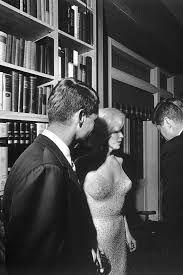 Robert Kennedy, Marilyn Monroe, and John F Kennedy at birthday gala