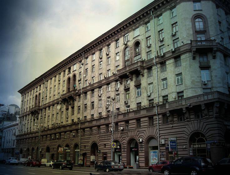 residential structures on Tverskaya street