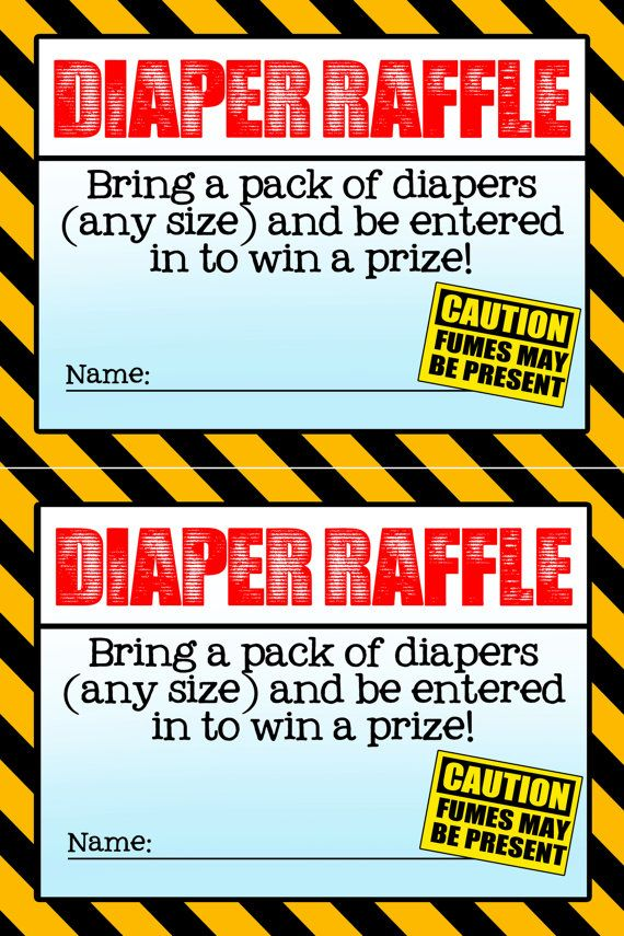 Ready-to-use construction themed baby shower diaper raffle tickets. The diaper raffle is 4x3 inches. It is formatted as high resolution jpg on a
