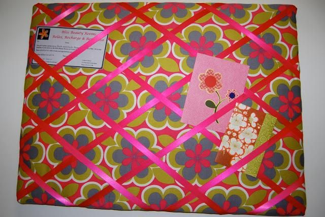 how to make a fabric pinboard