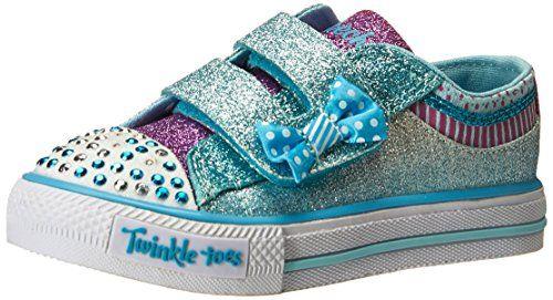 Skechers Kids Shuffles Bow Buddies Light-Up Sneaker (Toddler/Little Kid),Turquoise/Lavender,9 M US Toddler - http://all-shoes-online.com/skechers-kids/skechers-kids-twinkle-toes-shuffles-sweet-steps-113